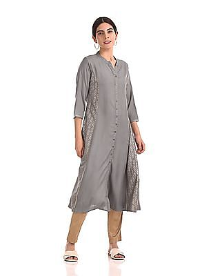 Anahi Princess Panel Mandarin Neck Kurta
