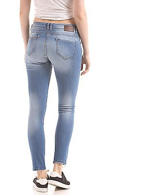 EdHardy Women Skinny Fit Distressed Jeans