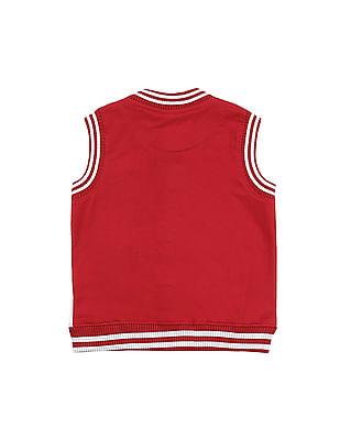 Cherokee Boys Colour Blocked Sleeveless Jacket