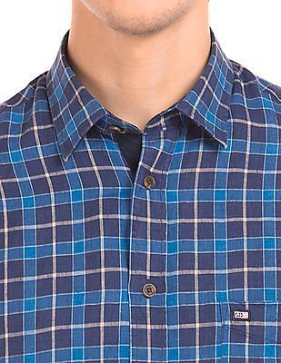 Arrow Sports Check Linen Shirt