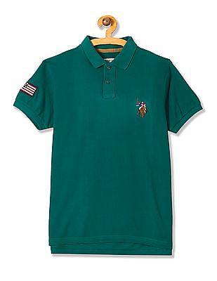U.S. Polo Assn. Kids Boys Solid Cotton Pique Polo Shirt