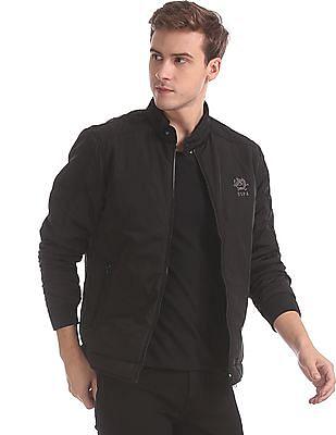U.S. Polo Assn. Black High Neck Solid Jacket