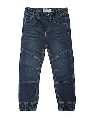 Nautica Kids Boys Washed Regular Fit Jogger Jeans