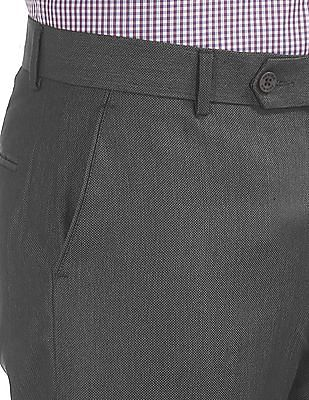Excalibur Patterned Slim Fit Trousers