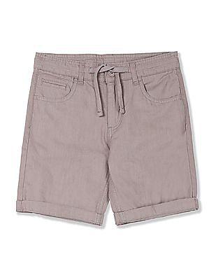 Cherokee Boys Drawstring Waist Solid Shorts
