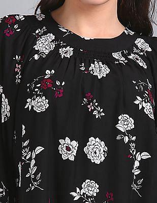 GAP Wide Sleeves Floral Print Top