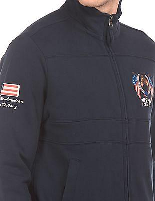 U.S. Polo Assn. Denim Co. Stand Neck Zip Up Jacket