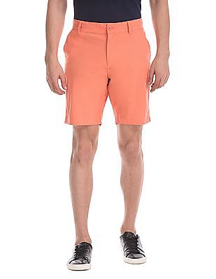 Flying Machine Super Slim Fit Flat Front Shorts