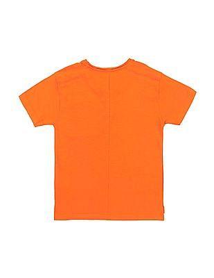 Cherokee Boys Printed Pocket Henley T-Shirt