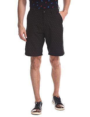 Arrow Sports Printed Twill Shorts