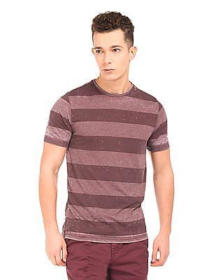 Cherokee Heathered Striped T-Shirt