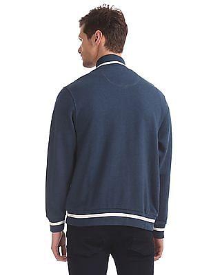 U.S. Polo Assn. Blue High Neck Heathered Sweatshirt