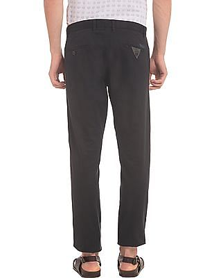 True Blue Flat Front Slim Fit Trousers