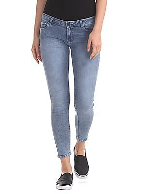 SUGR Skinny Fit Stone Wash Jeans