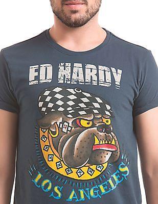 Ed Hardy Regular Fit Round Neck T-Shirt