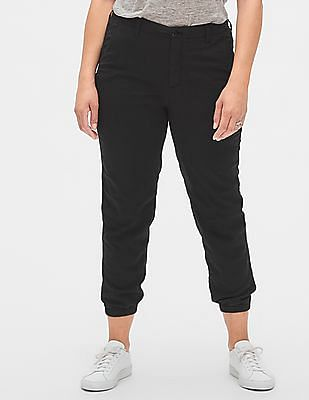 GAP Black Women Girlfriend Chino Joggers