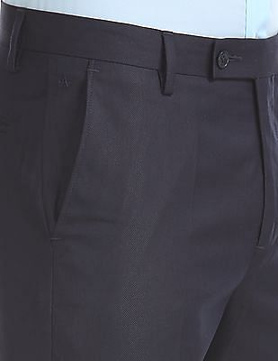 Arrow Tapered Fit Patterned Trousers