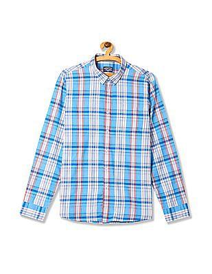 Flying Machine Regular Fit Check Shirt