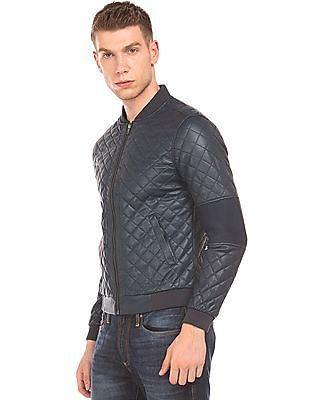 Flying Machine Quilted Bomber Jacket