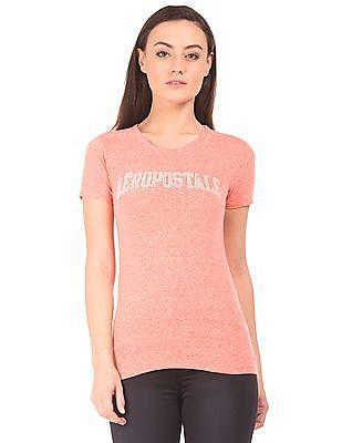 Aeropostale Round Neck Grindled T-Shirt