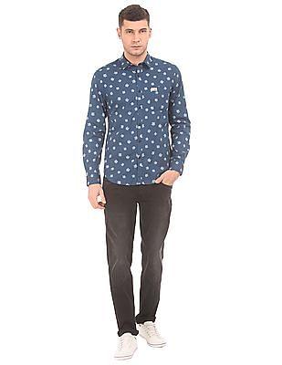 U.S. Polo Assn. Denim Co. Leaf Print Slim Fit Shirt