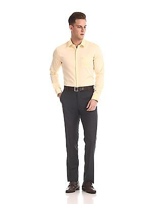 USPA Tailored French Placket Solid Shirt