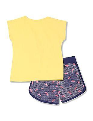 Cherokee Girls Top And Shorts Set