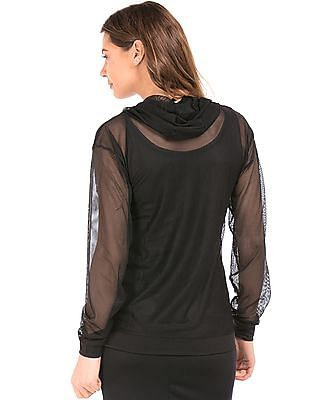 SUGR Hooded Active Mesh Top