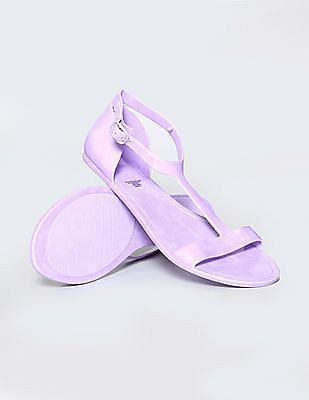 GAP Girls Solid T-Strap Jelly Sandals