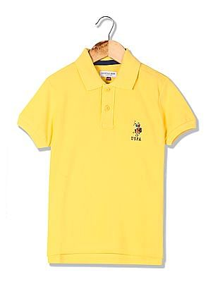 U.S. Polo Assn. Kids Boys Pique Polo Shirt