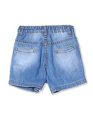 Donuts Boys Washed Denim Shorts