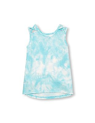 The Children's Place Toddler Girl Matchables Sleeveless Cutout Shoulder Tie Dye Tank Top