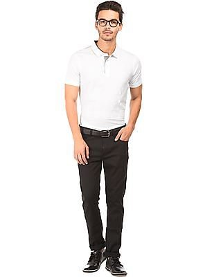 Arrow Newyork Tonal Rubber Print Polo Shirt
