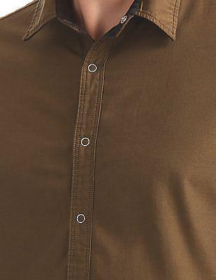 Arrow Sports Slim Fit Reversible Shirt