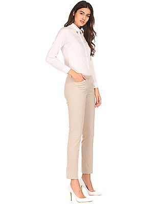 Arrow Woman Low Rise Tapered Fit Trousers