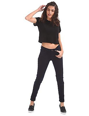 EdHardy Women Skinny Fit Panelled Jeans