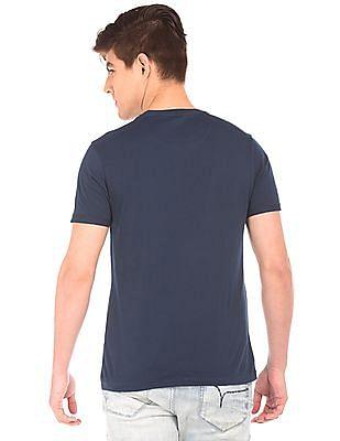Flying Machine Text Print Regular Fit T-Shirt