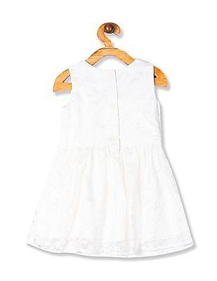 The Children's Place White Toddler Girl Lace Fit And Flare Dress