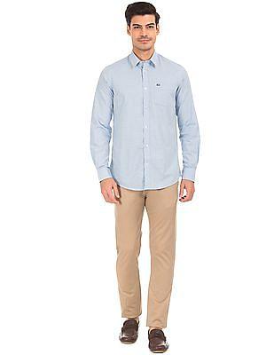 Arrow Sports Heathered Slim Fit Shirt
