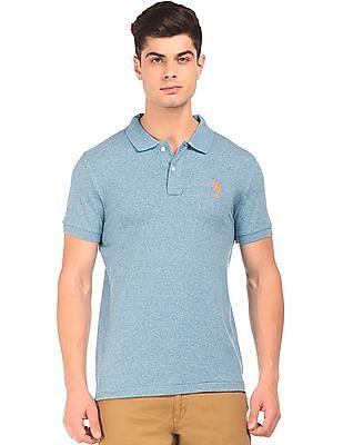 U.S. Polo Assn. Slim Fit Grindled Polo Shirt