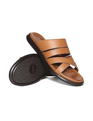 Arrow Solid Leather Sandals