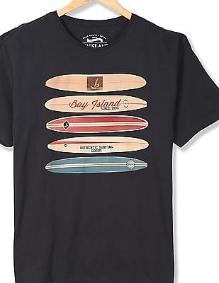 Bayisland Crew Neck Printed T-Shirt