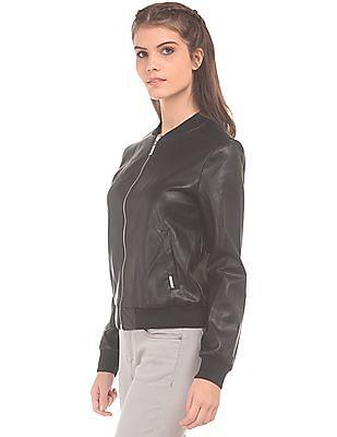 EdHardy Women Perforated Bomber Jacket