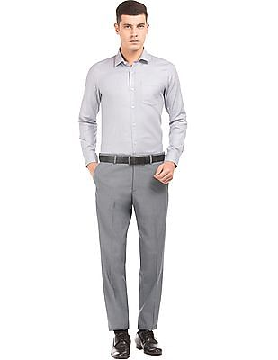 Arrow Solid Regular Fit Trousers