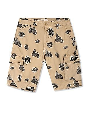 Ed Hardy Slim Fit Printed Cargo Shorts