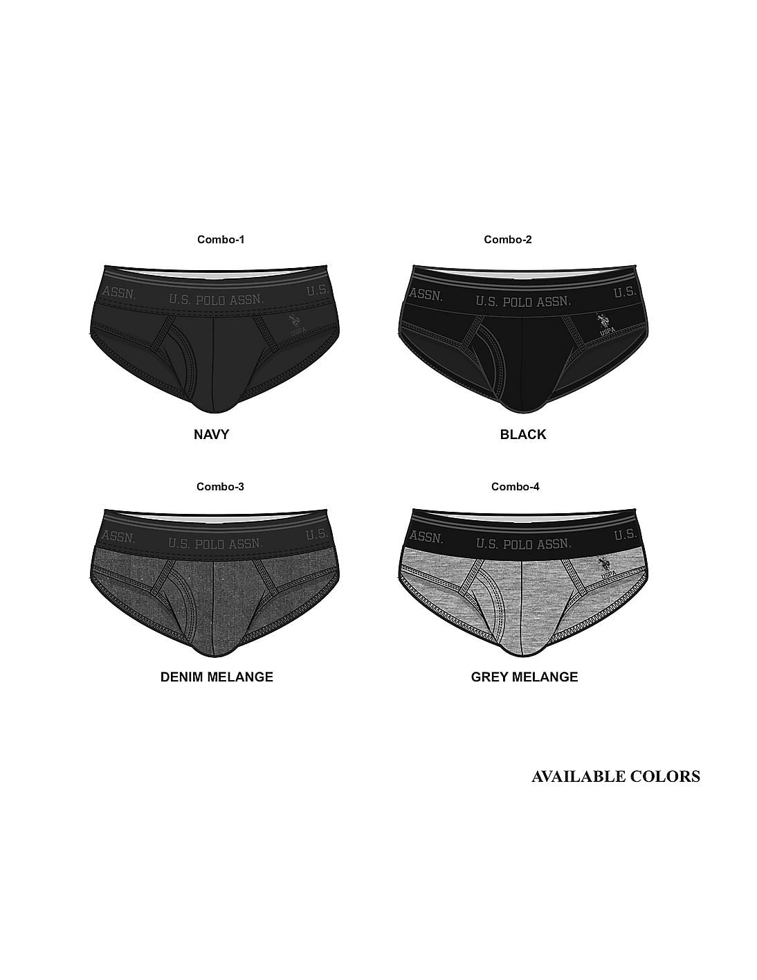 f79216c6c Buy Men Elasticized Waist Solid Briefs - Assorted online at NNNOW.com