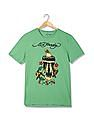 Ed Hardy Regular Fit Printed Studded T-Shirt