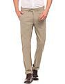 Ruggers Slim Fit Cotton Trousers