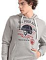 U.S. Polo Assn. Grey Hooded Graphic Sweatshirt