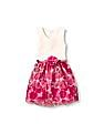 The Children's Place Girls Sleeveless Lace To Rose Print Belted Woven Dress
